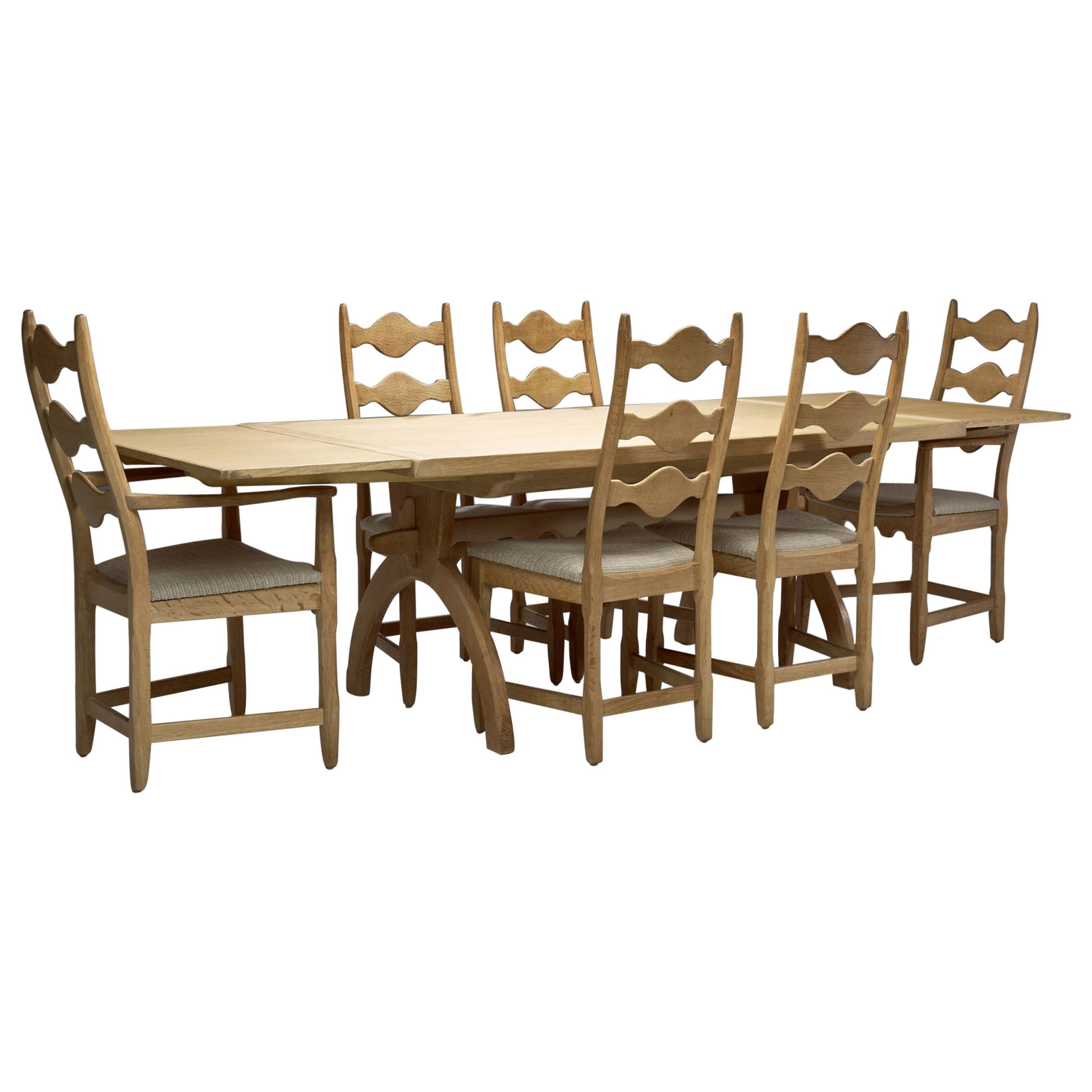 Scandinavian Oak Dining Set, Scandinavia, circa 1950s