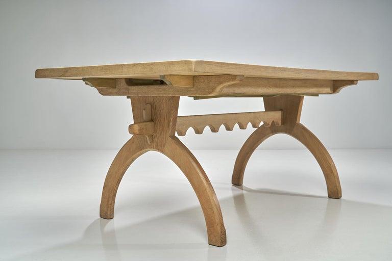 Scandinavian Oak Dining Table, Scandinavia, circa 1950s 12