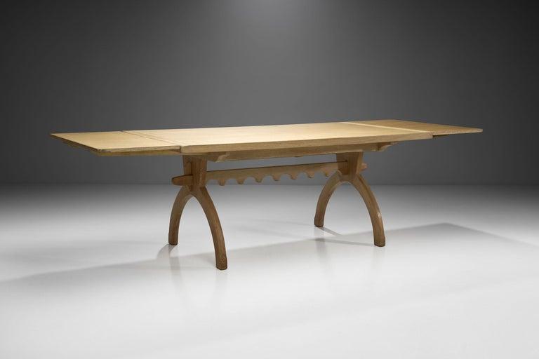 Scandinavian Oak Dining Table, Scandinavia, circa 1950s 1