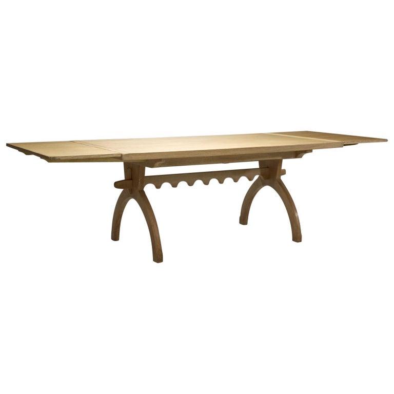 Scandinavian Oak Dining Table, Scandinavia, circa 1950s