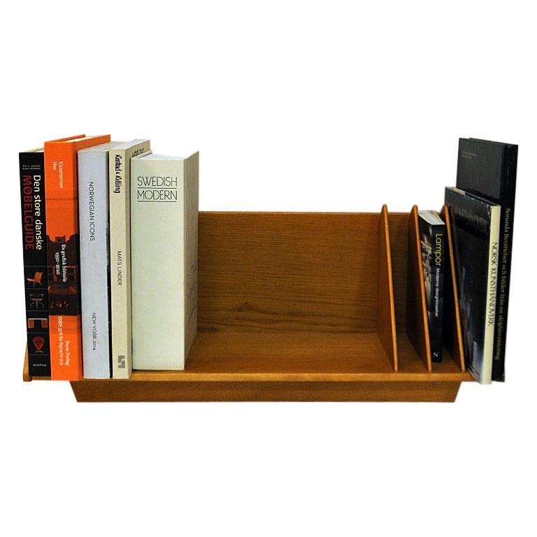 Scandinavian Vintage Oak Freestanding Book Shelf or Crib 1950s-1960s