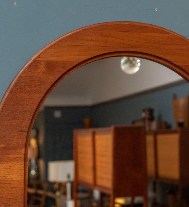Scandinavian Modern Scandinavian Oval Wall Mirror For Sale