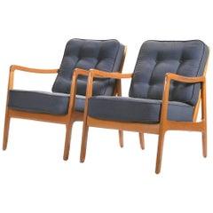 Scandinavian Pair of Ole Wanscher FD109 Armchairs, 1960s