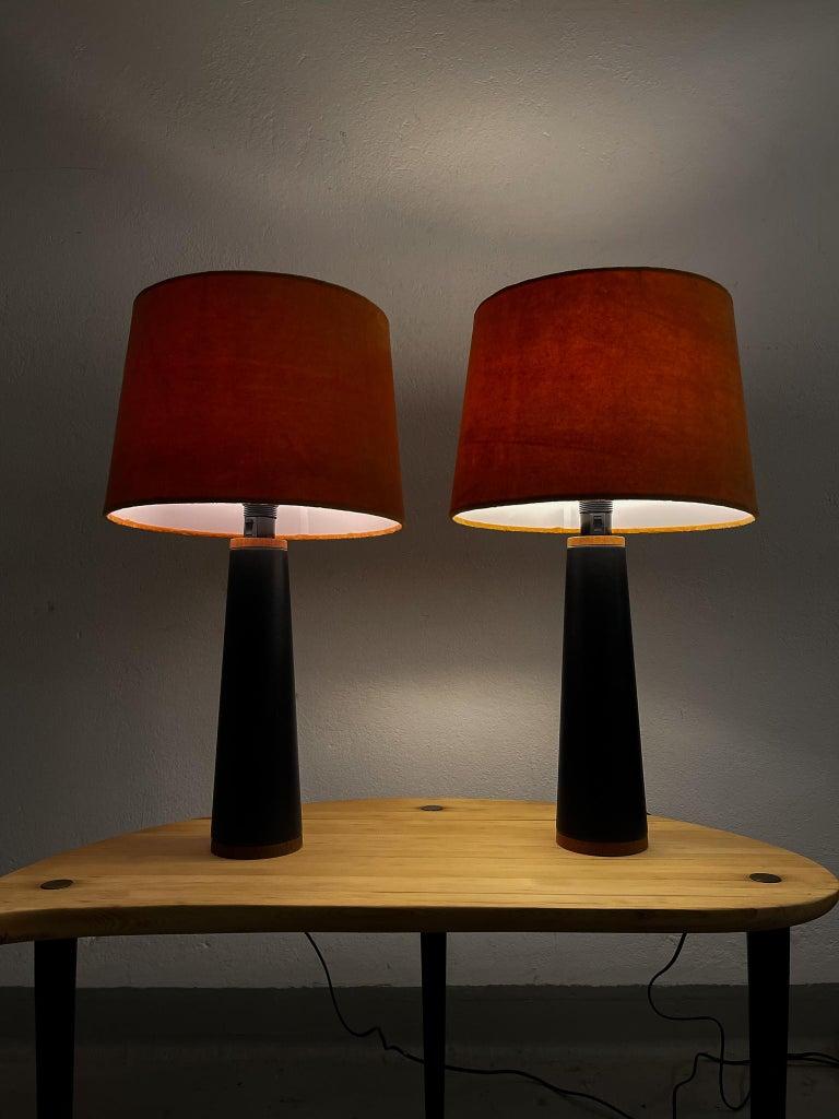 Scandinavian Pair of Table Lamps Luxus, Sweden, 1970s For Sale 7