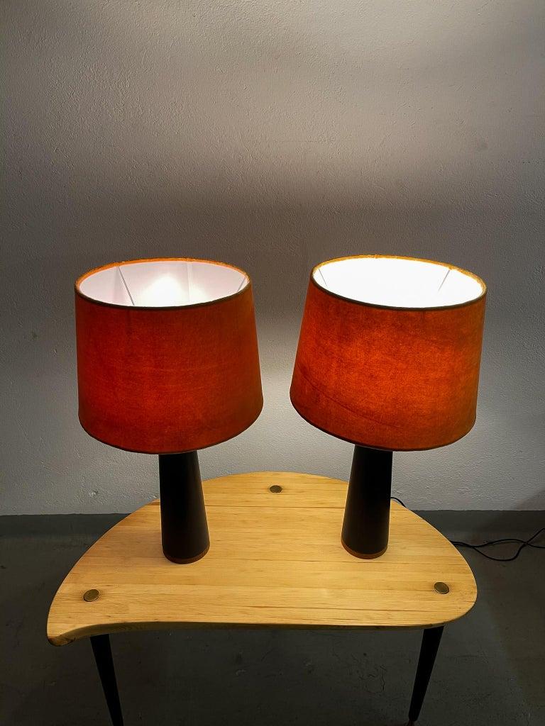 Scandinavian Pair of Table Lamps Luxus, Sweden, 1970s For Sale 8