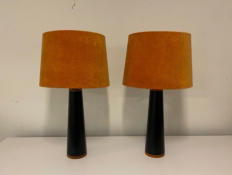 Scandinavian Modern Scandinavian Pair of Table Lamps Luxus, Sweden, 1970s For Sale