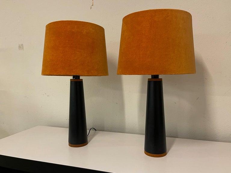 Swedish Scandinavian Pair of Table Lamps Luxus, Sweden, 1970s For Sale