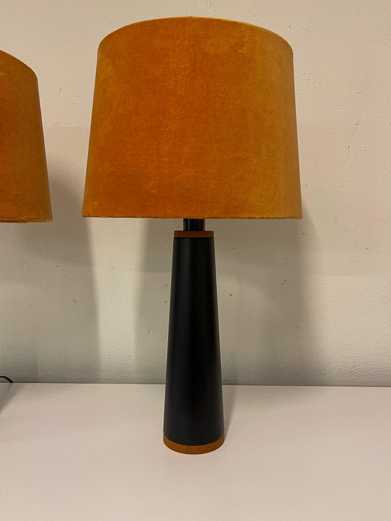 Late 20th Century Scandinavian Pair of Table Lamps Luxus, Sweden, 1970s For Sale