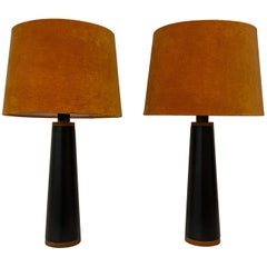 Scandinavian Pair of Table Lamps Luxus, Sweden, 1970s