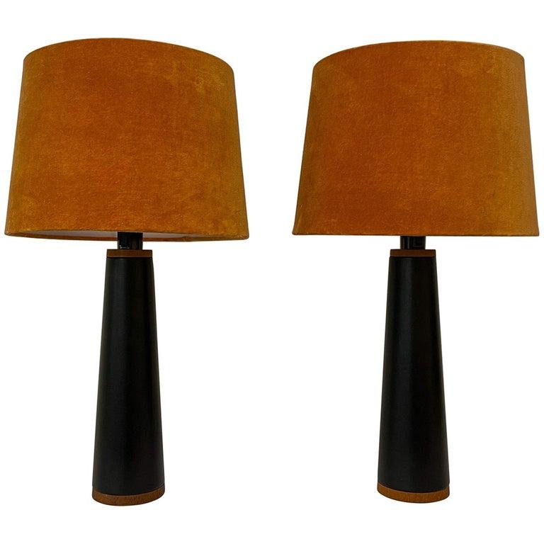 Scandinavian Pair of Table Lamps Luxus, Sweden, 1970s For Sale