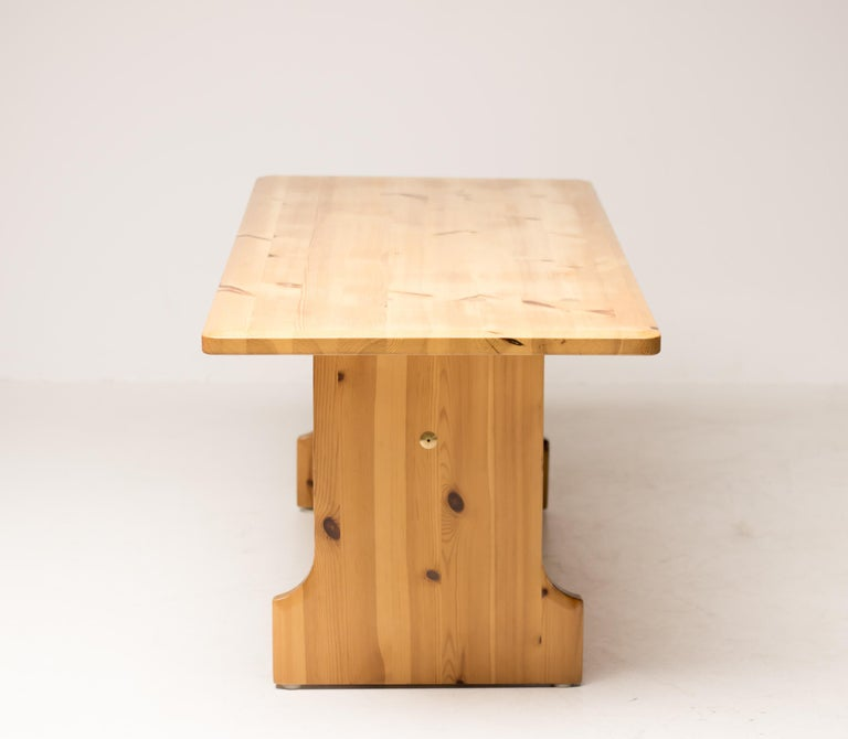 Scandinavian Pine Dining Set For Sale 6