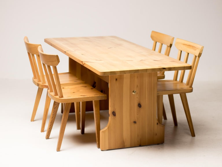 Scandinavian Pine Dining Set For Sale 8