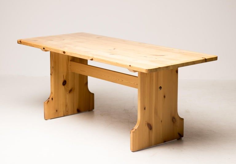 Swedish Scandinavian Pine Dining Set For Sale