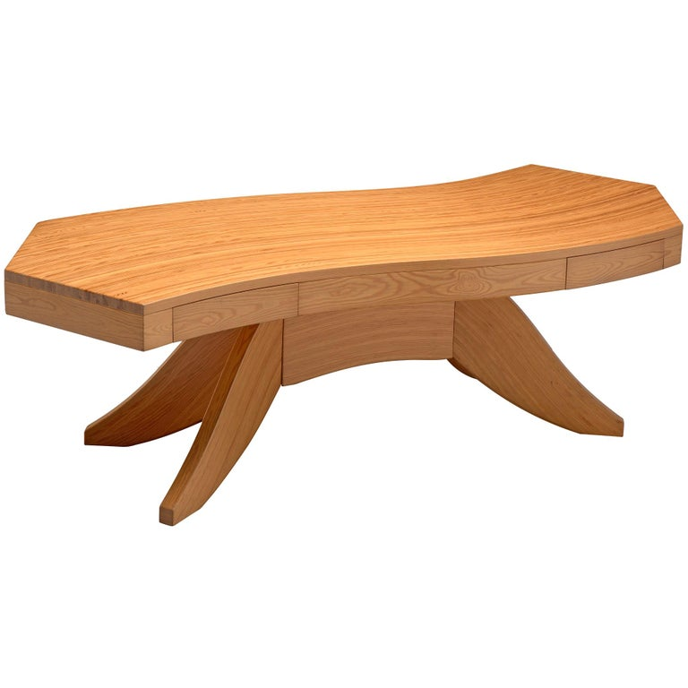 Scandinavian Pine Table with Curved Table Top