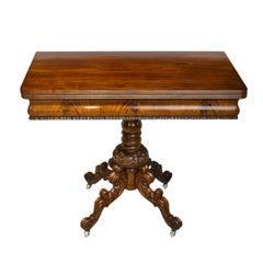 Scandinavian Rococo Revival Game Table, circa 1850