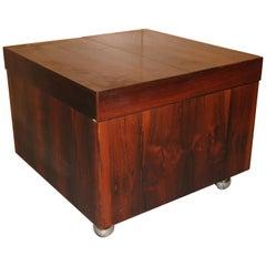 Scandinavian Rosewood Cube Bar