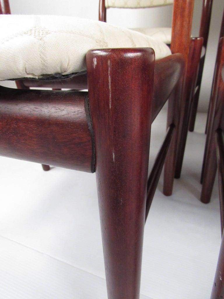 Scandinavian Rosewood Dining Room Set by Skovby For Sale 11