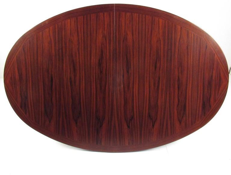 Scandinavian Rosewood Dining Room Set by Skovby For Sale 1