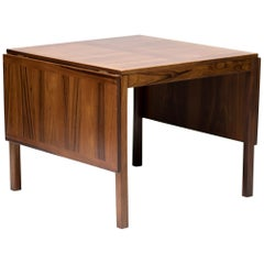 Scandinavian Rosewood Drop-Leaf Table