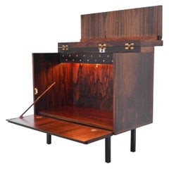 Scandinavian Rosewood Dry Bar Cabinet, Denmark, 1960