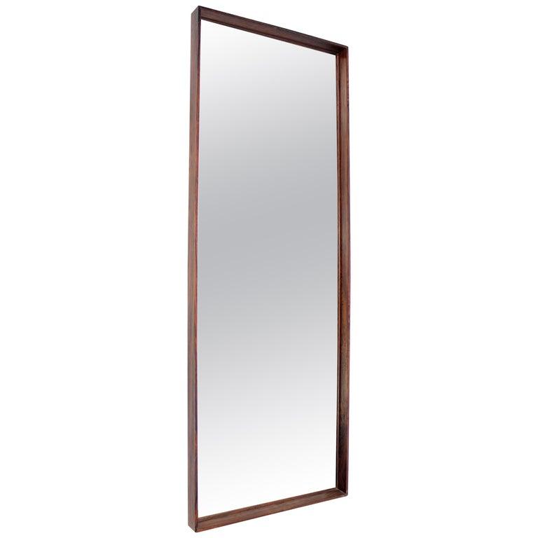 Scandinavian Rosewood Mirror, 1960s For Sale