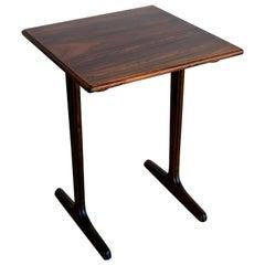 Scandinavian Rosewood Side or End Table