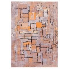 Scandinavian Rug after Piet Mondrian. Size: 8 ft x 11 ft (2.44 m x 3.35 m)