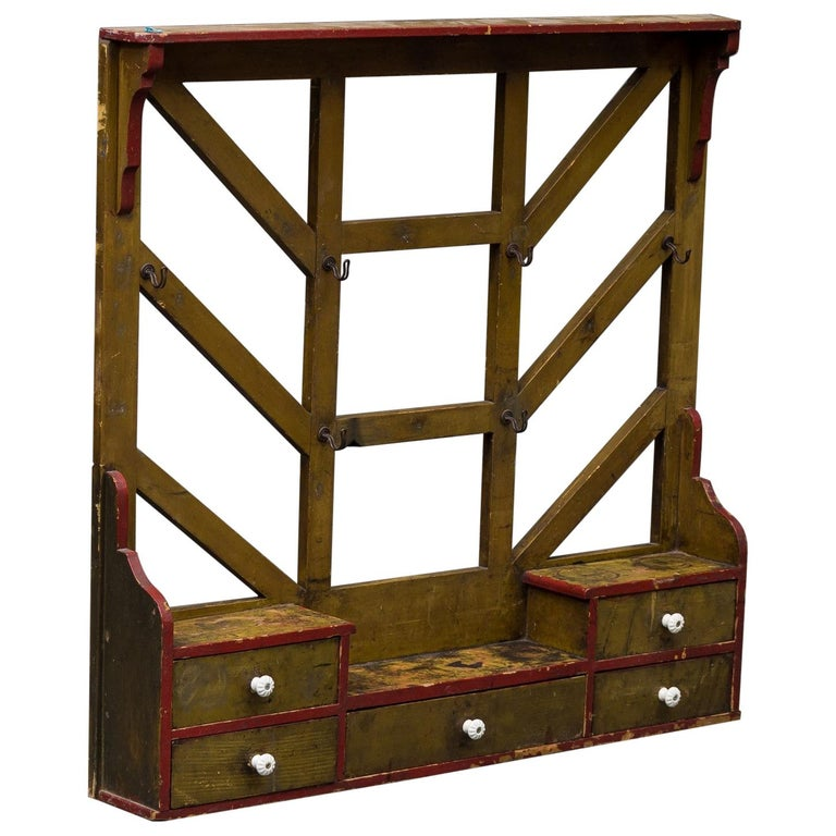 Scandinavian Rustic Kitchen Stand For Sale