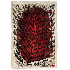 Scandinavian Rya Rug Wall Hanging Tapestry, Finland