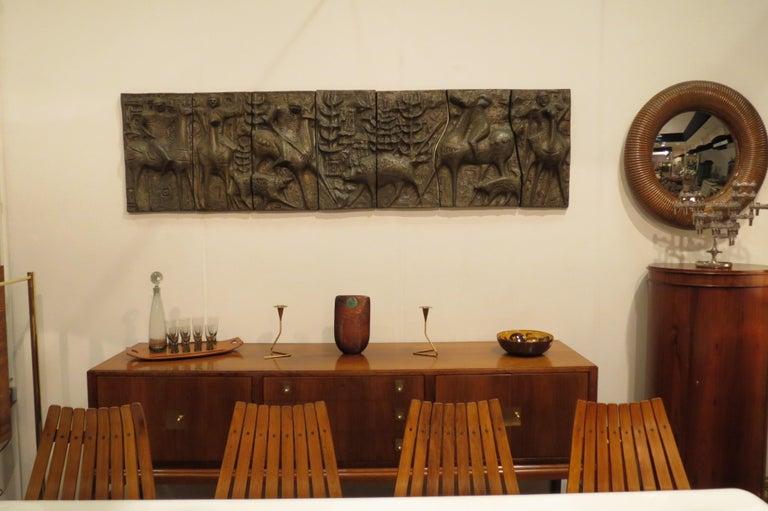 1960s Sculptural Bronze Effect Wall Art Resin Wall Hanging  For Sale 3