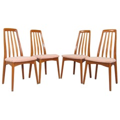 Scandinavian Set of Four Teak Dining Chairs by Svegards Markaryd