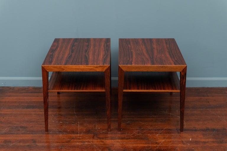 Danish Scandinavian Side Tables or Nightstands by Severin Hansen For Sale