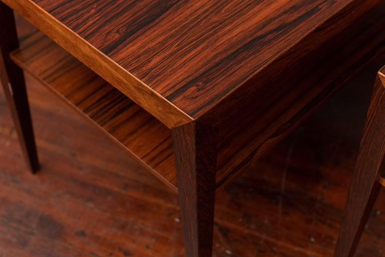 Mid-20th Century Scandinavian Side Tables or Nightstands by Severin Hansen For Sale
