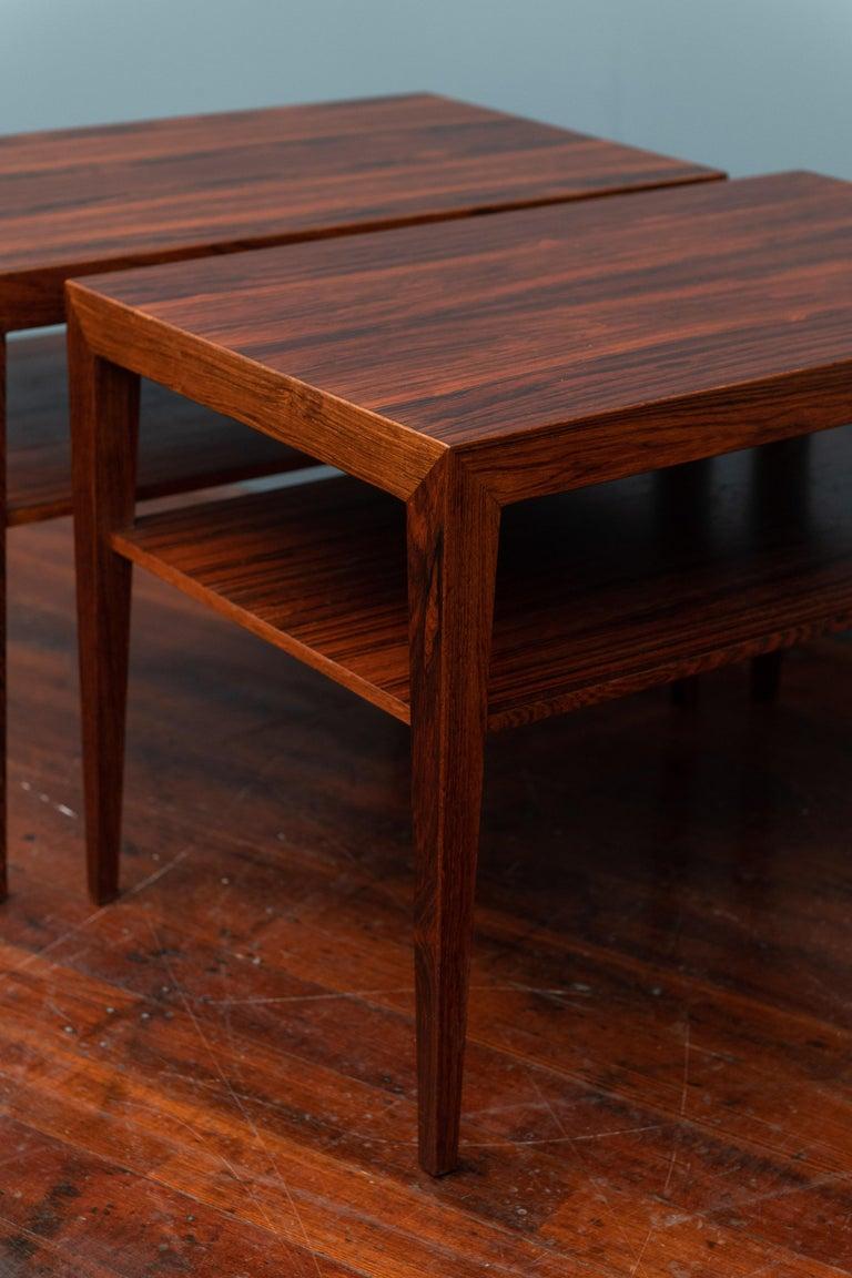 Scandinavian Side Tables or Nightstands by Severin Hansen For Sale 1