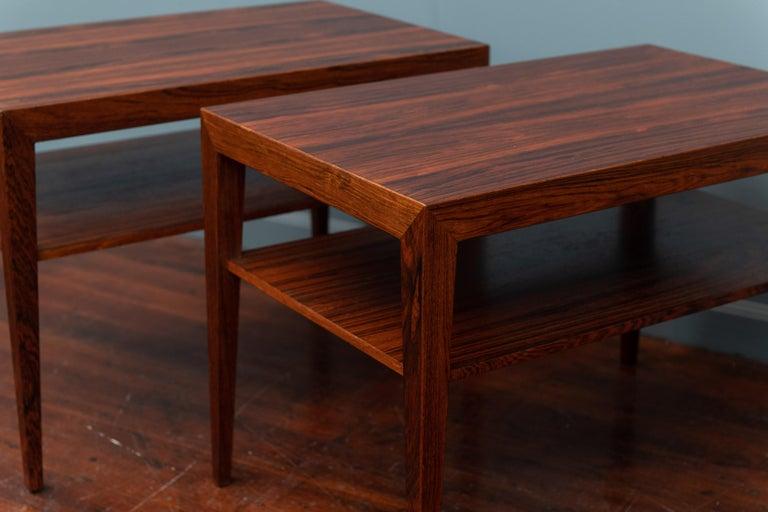 Scandinavian Side Tables or Nightstands by Severin Hansen For Sale 2