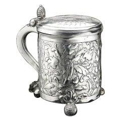 Scandinavian Silver Tankard, 1650