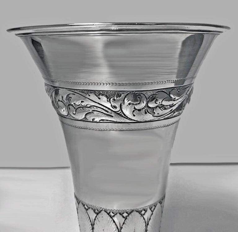 Scandinavian Silver Vase A Steffensen Copenhagen
