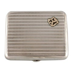 Scandinavian Silversmith, Art Deco Cigarette Case in Silver, 1930s / 40s