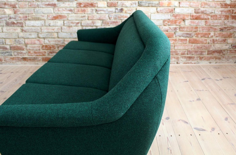 Sofa Set by Holm Fabriker in Emerald Green Kvadrat Fabric, Mid-Century Modern For Sale 3