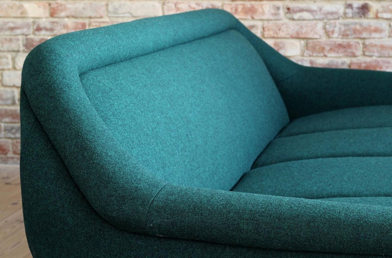 Sofa Set by Holm Fabriker in Emerald Green Kvadrat Fabric, Mid-Century Modern For Sale 4