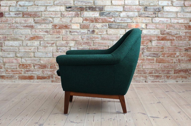Sofa Set by Holm Fabriker in Emerald Green Kvadrat Fabric, Mid-Century Modern For Sale 7