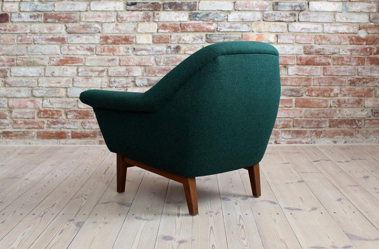 Sofa Set by Holm Fabriker in Emerald Green Kvadrat Fabric, Mid-Century Modern For Sale 8