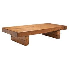 Scandinavian Solid Wood Coffee Table, Scandinavia ca 1950s