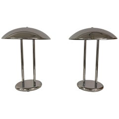 Scandinavian Space Ace Style Pair of Table Lamps Ikea, Sweden, 1980s