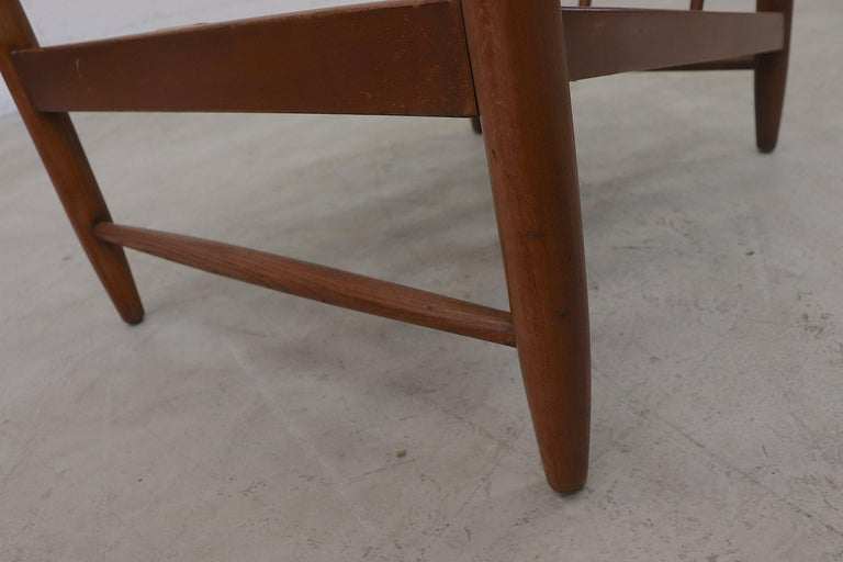 Scandinavian Spindle Back Lounge Chair For Sale 7