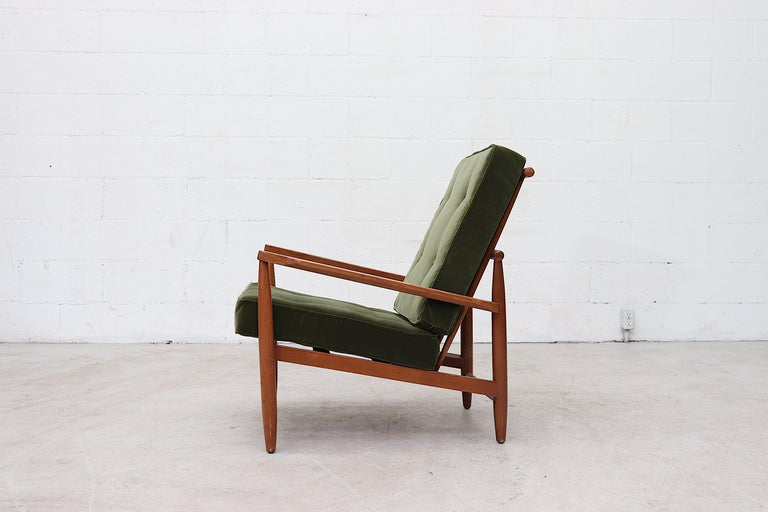 Mid-Century Modern Scandinavian Spindle Back Lounge Chair For Sale
