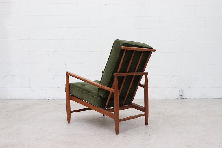 Swedish Scandinavian Spindle Back Lounge Chair For Sale