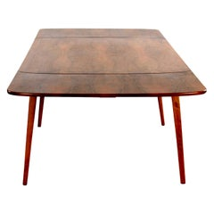 Scandinavian Stained Beechwood Extendable Table, 1960s