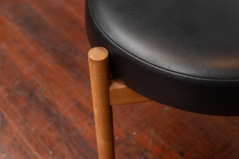 Scandinavian Stools by Hugo Frandsen In Good Condition For Sale In San Francisco, CA