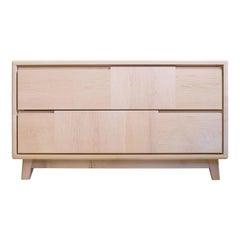 Scandinavian-Style 2-Drawer Maple Dresser